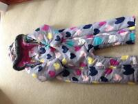 Girls M&S snowsuit age 3-4