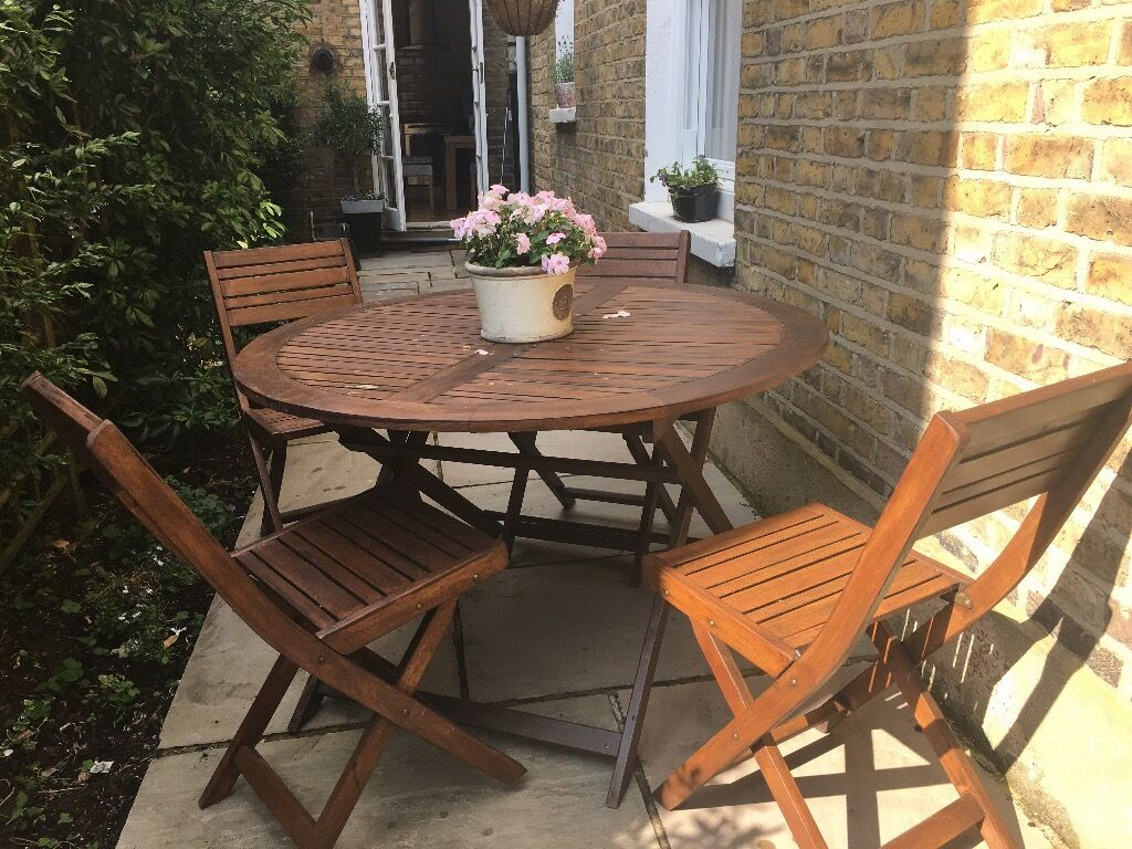 4 seat teak outdoor furniture set john lewis in putney for Outdoor furniture london