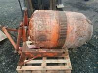 Tractor three point linkage pto driven cement mixer with shaft