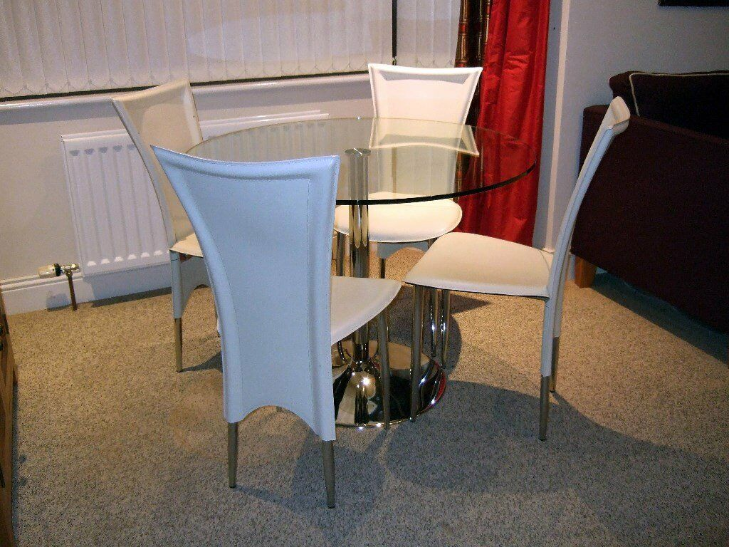 Groovy Glass Dining Table And Chairs In Dundonald Belfast Gumtree Machost Co Dining Chair Design Ideas Machostcouk