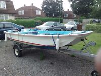 Dory 13ft unsinkable fishing boat with yamaha outbord and trailer
