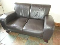 2 seater Brown Leather Seat for sale