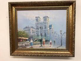 Beautiful signed Parisian oil painting