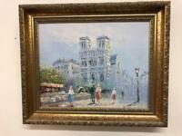 Beautiful signed Parisian oil painting