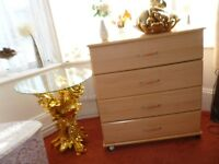 Chest of 4 drawers with wheels easy moving around wasover£100