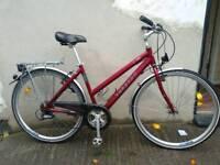 Ladies hybrid Deore LX quality German built town bike Bristol Upcycles