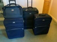 Antler Suitcase set one large case two medium on Hand cabin bag Navy for sale  Pershore, Worcestershire