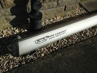 Aero Tech 3m Pipe Carrier with roof rail clamps