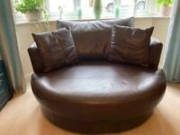 Marks and Spencer's leather love seat