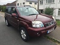 Nissan X-Trail SVE 2488cc Petrol 5 speed manual 4x4 Estate 05 Plate 02/03/2005 Red