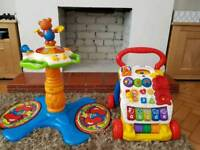 Vtech sit to stand dancing tower and first steps baby walker