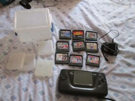 GAME GEAR CONSOLE BUNDLE,10 GAMES