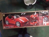 Brand New Boxed. Ferrari Ride on Battery operated car for child kids