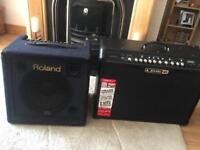 Roland KC-350 Keyboard Amplifier and a Line 6 Spider IV 150w Amplifier
