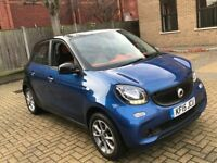 2015 SMART FORFOUR 1.0 71 PASSION PETROL MANUAL 5 DOOR HATCHBACK WARRANTY DRIVES LIKE NEW NOT FORTWO