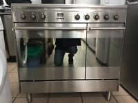 Smeg range electric cooker 90cm ceramic stainless steel double oven 3 months warranty !!!!!!!!!