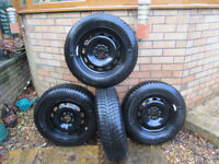 Winter tyres on steel rims, only 500 miles running 195/65/15