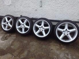 Porsche 18 genuine Artec racing wheels