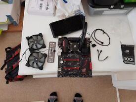 Intel I7 4790 + Asus Maximus Ranger Vii + 16gb Corsair DDR3 2133mhz RAM + H100i Cooler V1