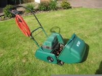 SUFFOLK PUNCH ELECTRIC LAWNMOWER. EXCELLENT CONDITION. EXTRA LONG LEAD. LARGE GRASS BOX.