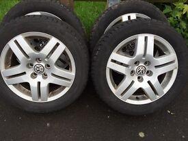 4 x VWGolf mk4 alloys and tyres