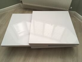 White glossy coffee table