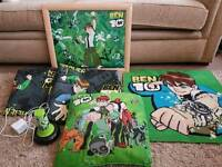 Ben 10 Bedroom Set Long Curtains, Large Picture, Mat, Cushion and Lamp/Torch