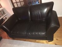 Brown leather 3 & 2 seater sofas. Excellent condition. Smoke & pet free. Low price for quick sale.