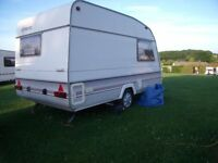 sprite alpine2 touring caravan, dry, awning 1995 gas,battery,awning,spare wheel,tyrone band in tyres