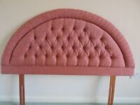 "Swanglen Furniture 5'0"" padded and buttoned Headboard"