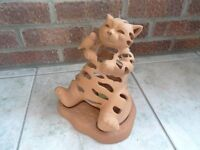Cat & Canary Terracotta T-light holder (by Partylite)