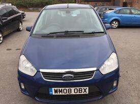 Ford C-Max 1.8 TDCi Titanium 5dr 2008 (08 reg), MPV( 30days warranty)£1999