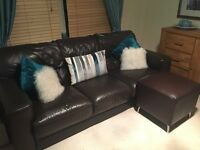 2 x 3 seater leather Sofas originally from vogue in Glasgow