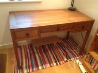 Wooden Writer's Desk (Teak ?) in immaculate condition