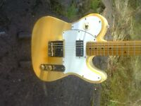1994 modified japan squier telecaster guitar