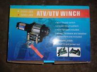 ATV 3000LB winch, new and unused