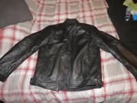 Unbranded padded leather jacket black size L