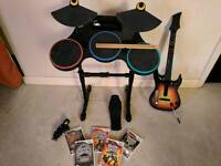 Guitar Hero Band set for Wii