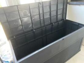 Rattan effect XL garden storage box - brand new