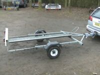 ARMITAGES GALVANISED MOTORCYCLE TRANSPORTER ROAD TRAILER....