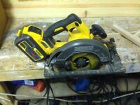 Dewalt Flexvolt DCS575N-XJ Cordless Circular Saw with 54v 9amp battery