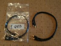 audio leads QED gold phono leads 2 pairs