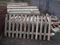 PICKET FENCING ROUND TOP TREATED 3X6 AND 4 X 6 ALSO POSTS AND GRAVEL BOARDS