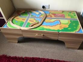 Train table for building track