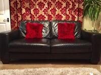 Leather black sofa