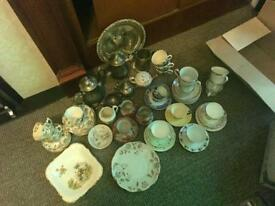 Job lot of silver and crockery