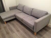 IKEA KARLSTAD Isunda grey sofa and chaise