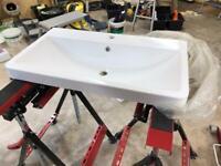 Stone vanity sink unit