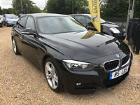 2013 BMW 3 SERIES 320D M SPORT AUTOMATIC BLACK WITH RED LEATHER. START/STOP