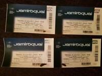 Jamiroquai 4 tickets wed 6th Dec at 02